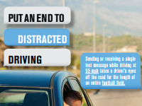 Stop Distracted Driving Poster